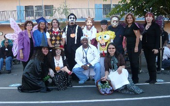 Staff at the Halloween Parade